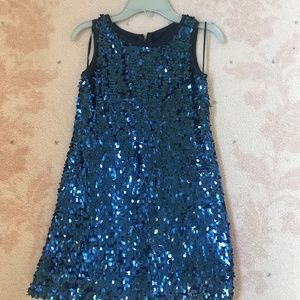 Biscotti Girls Blue Squin Party Dress